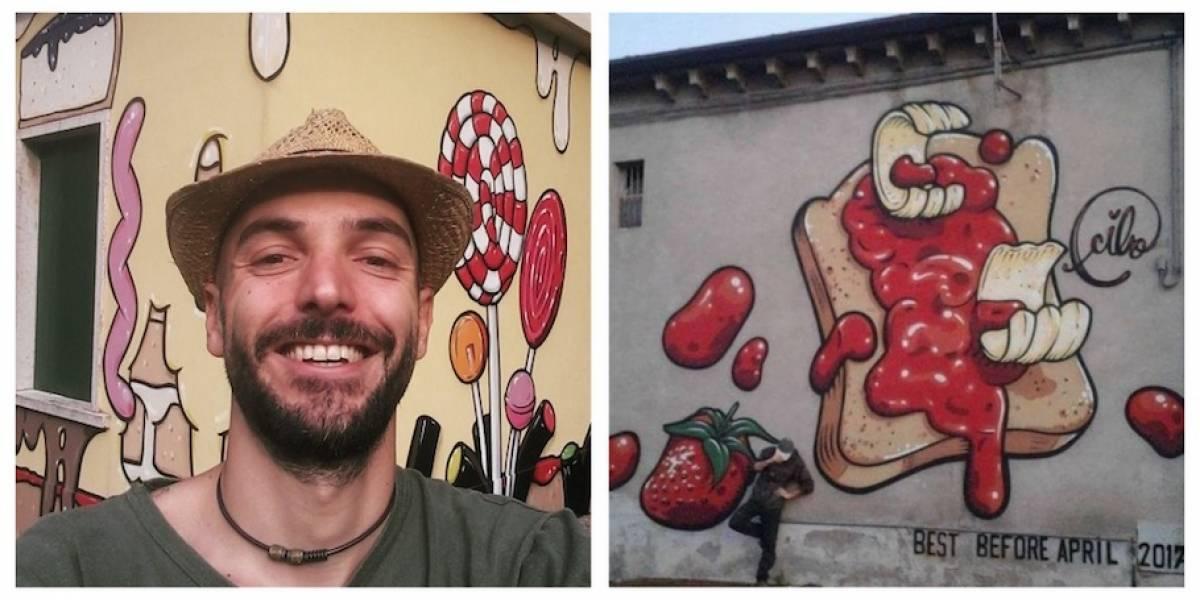 VIDEO. El artista que cubre mensajes neo-nazis con comida