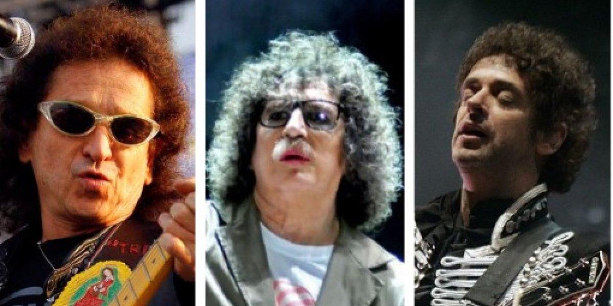 Lora, Cerati y García, los rockeros a la televisión