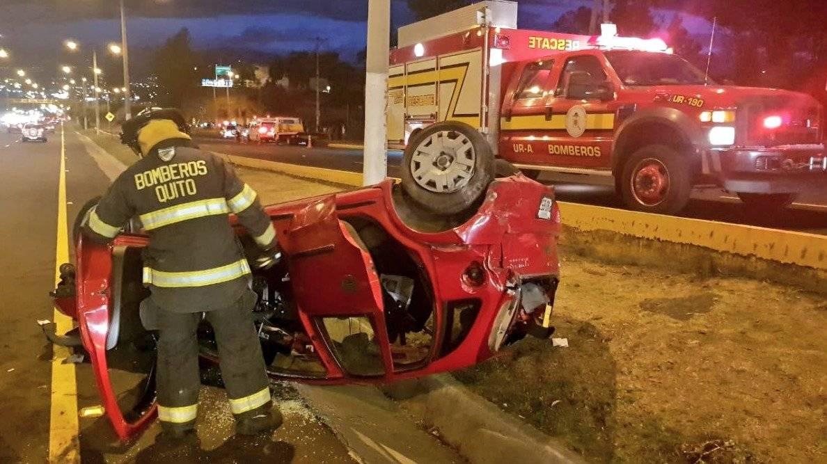 accidente de tránsito en la Autopista General Rumiñahui