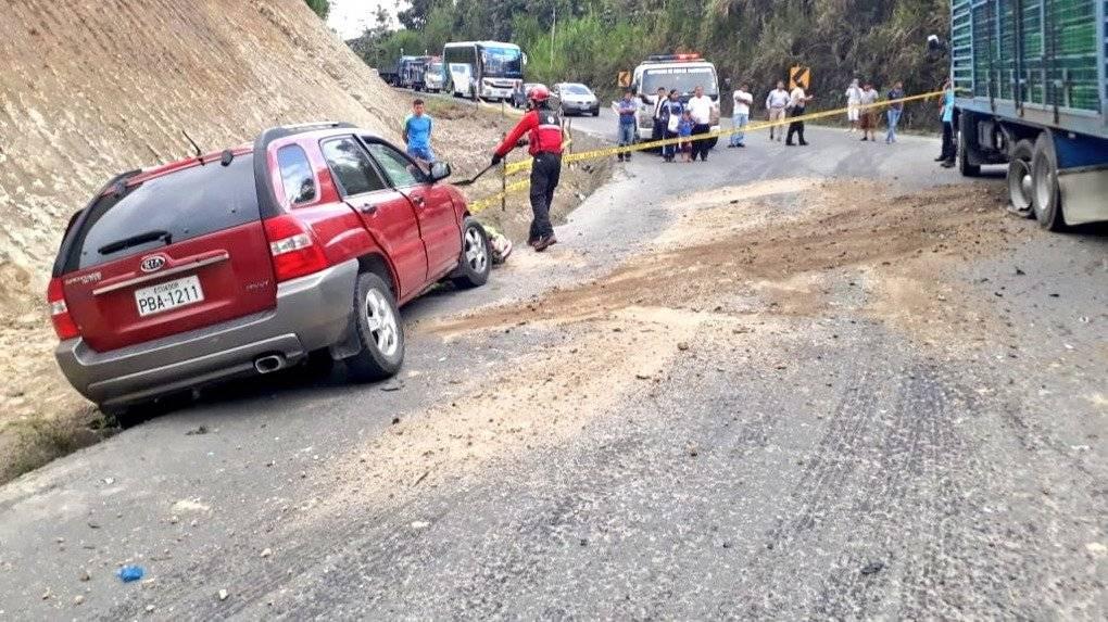 accidente la vía Calacalí-La Independencia Captura de pantalla