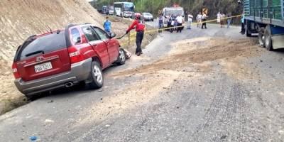 accidente la vía Calacalí-La Independencia
