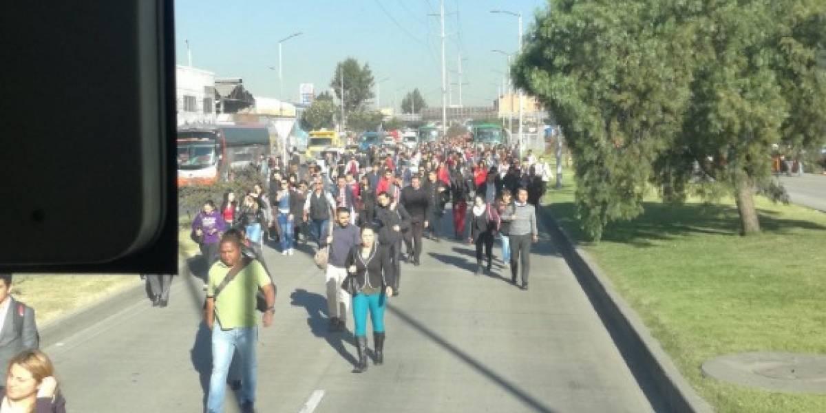 ¡Atención! caos en TransMilenio por bloqueos en la Autopista Sur
