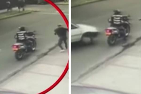 Conductor arrolló a dos ladrones en Bogotá