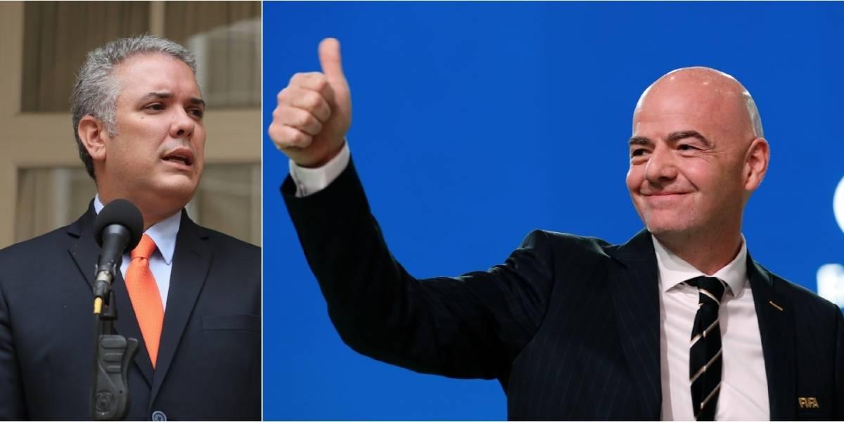 El desplante del presidente Gianni Infantino a Iván Duque que ahora salió a la luz