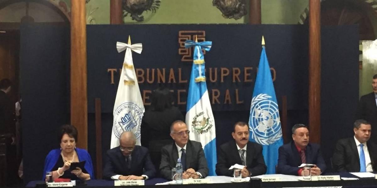 CICIG asesorará al TSE en la fiscalización de los partidos