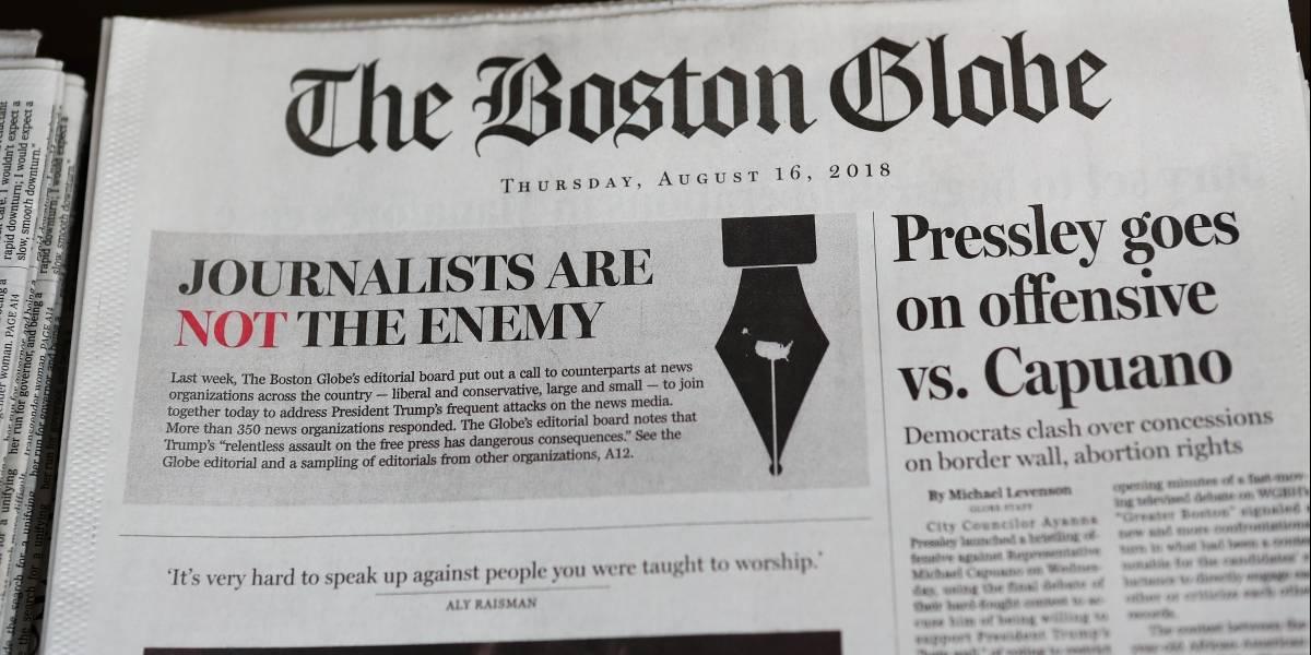 """Las """"Fake News"""" son el partido opositor: Donald Trump"""
