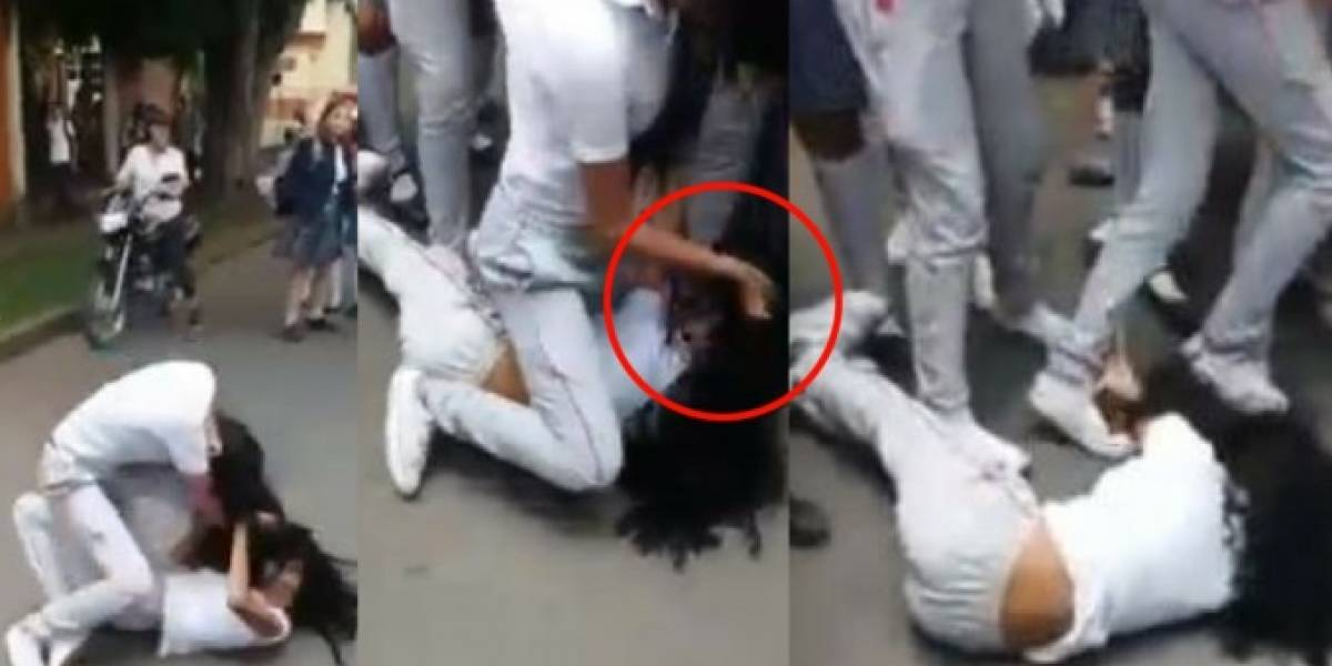 Video: riña entre estudiantes de un colegio dejó a una menor gravemente herida