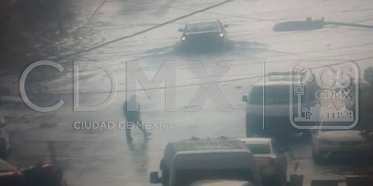 Intensa lluvia inunda calzada Ignacio Zaragoza