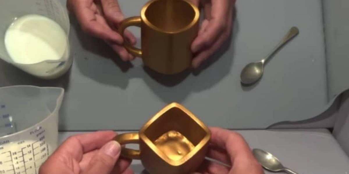 Nuevo reto óptico ¿La taza es redonda o cuadrada?