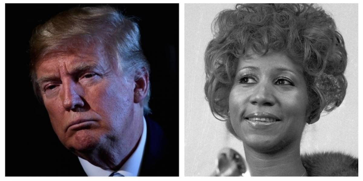 Trumppublica un sentido tuitpor la muerte de Aretha Franklin