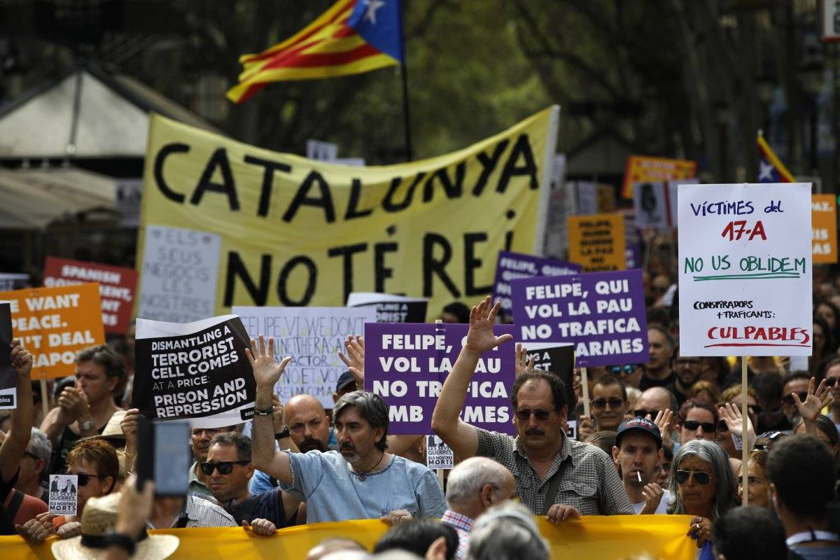 protesta Barcelona rey atentado terrorista