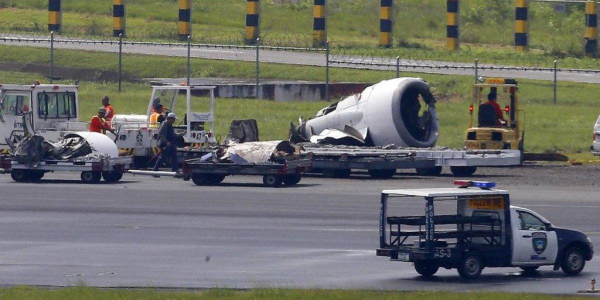 Avión pierde turbina al aterrizar en aeropuerto en Filipinas