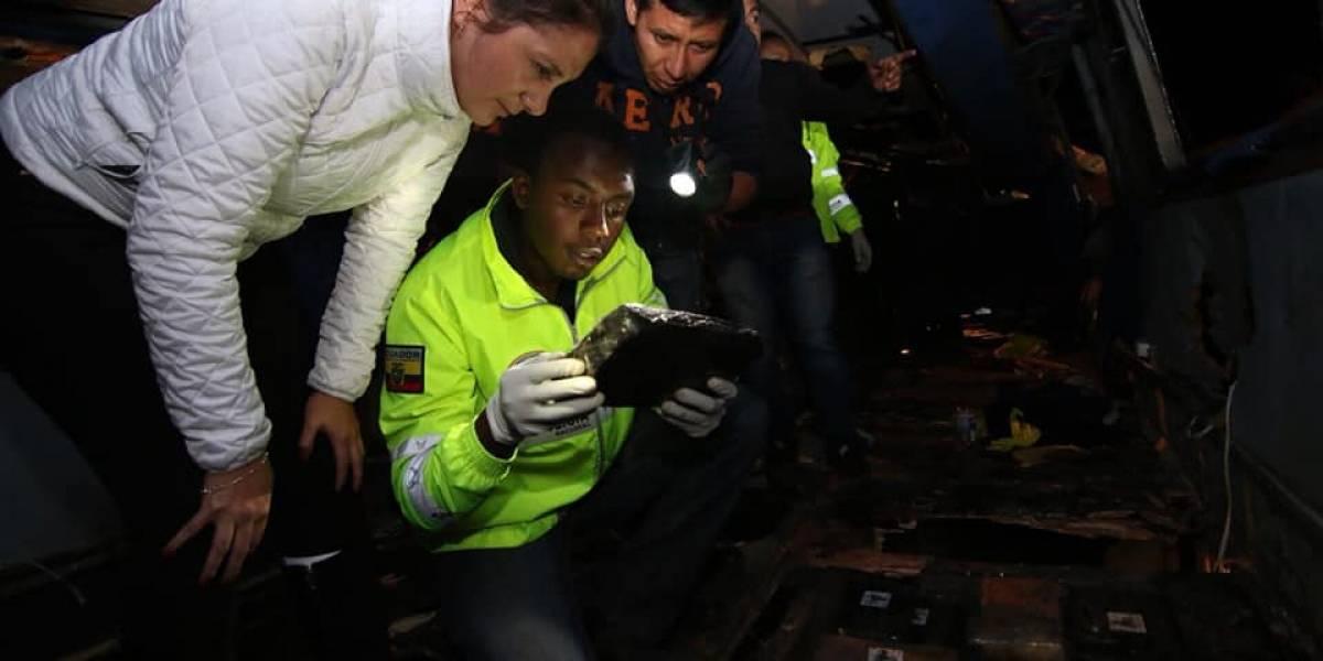 ¿Cómo hicieron las autoridades colombianas para saber que el bus accidentado en Ecuador llevaba droga?