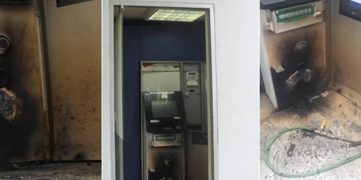A prueba de robos: Ladrones intentaron abrir cajero automático pero fallaron en su plan