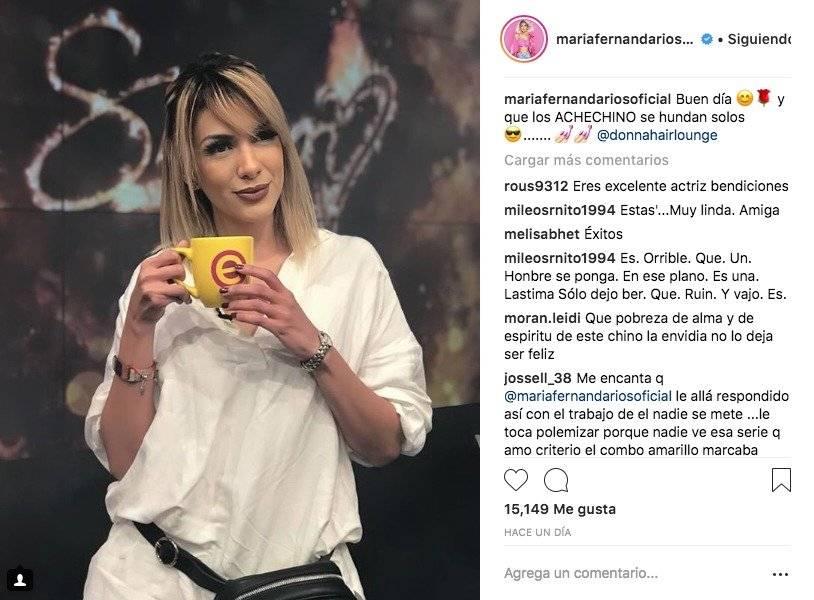 María Fernanda Ríos responde a críticas de Sharon