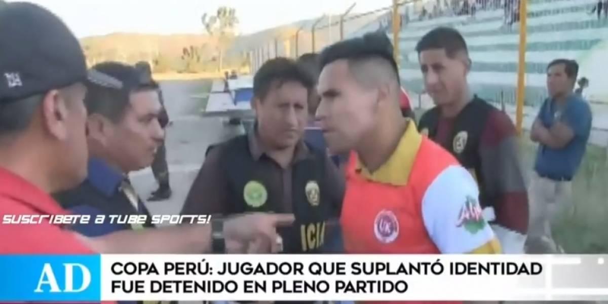 Futbolista peruano es detenido en pleno partido por suplantación de identidad