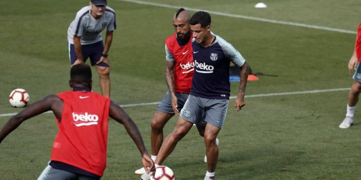 Vidal sumó minutos en goleada de Barcelona sobre el Alavés