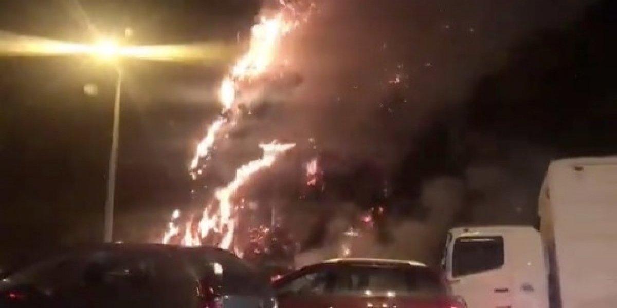 Quito: Se registra incendio en el redondel de Zámbiza