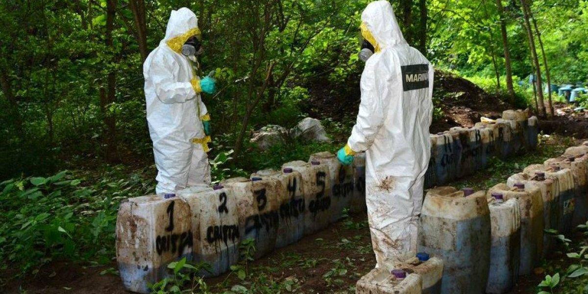 Destruyen 50 toneladas de droga sintética en Sinaloa