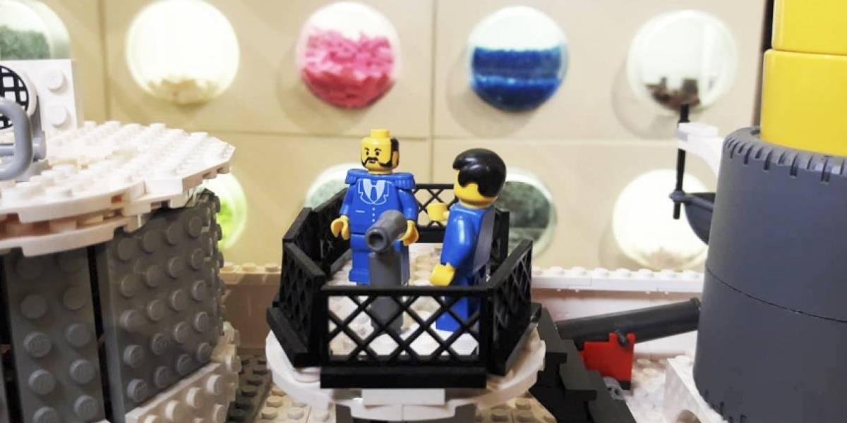 Orgullo peruano: Hizo réplica del Monitor Huáscar en Lego