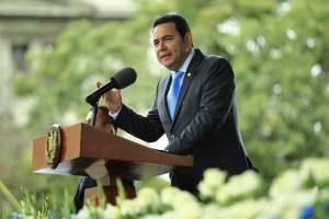presidente Jimmy Morales en conmemoración del Día de la Bandera Nacional