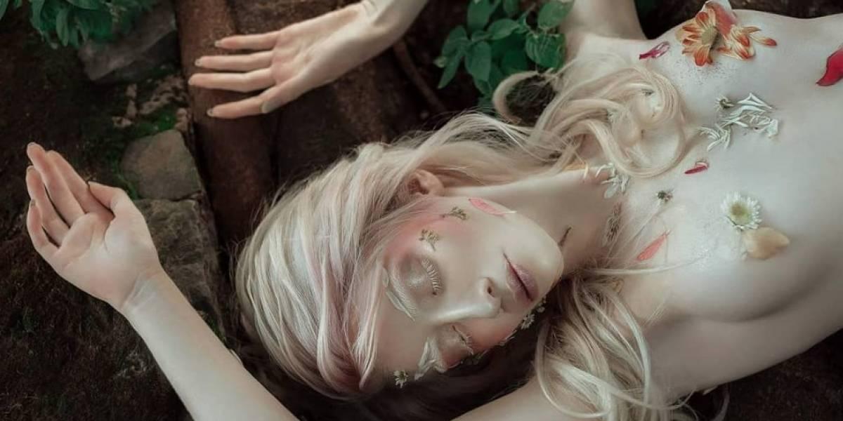 La nuevas fotografías de Ruby Vizcarra, la modelo albina han unido a Internet