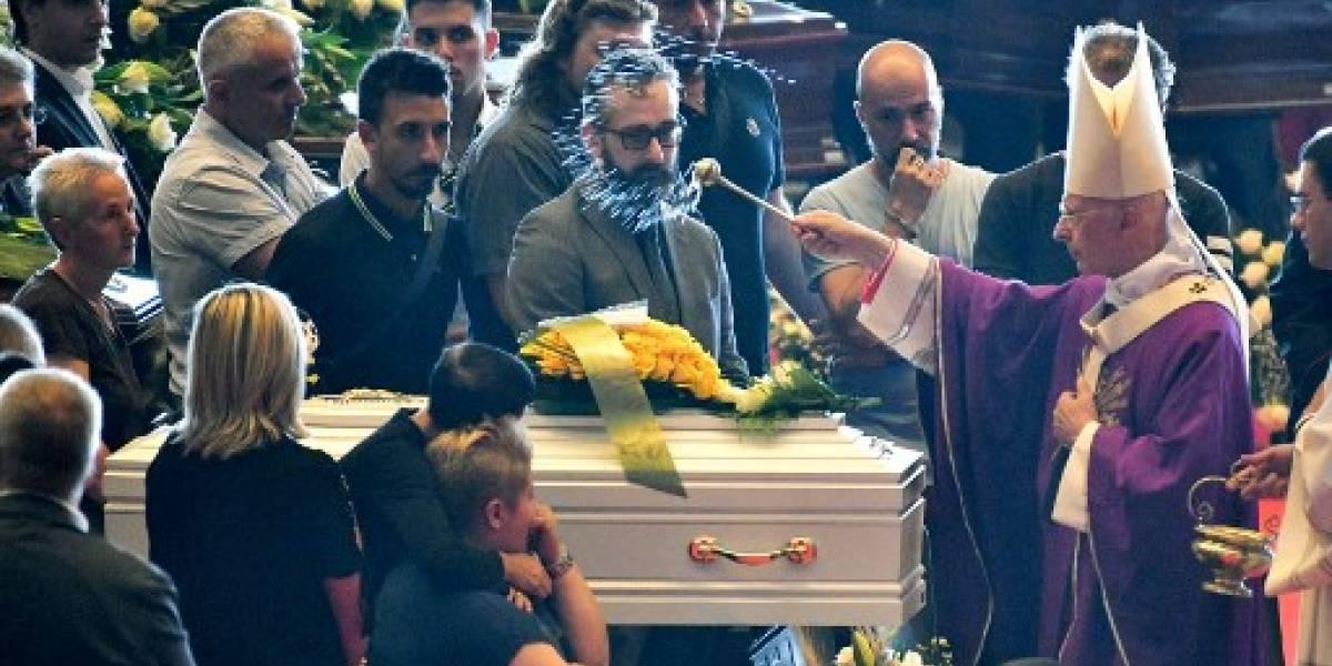 Emoción y dolor en el funeral de las víctimas del puente Morandi de Génova