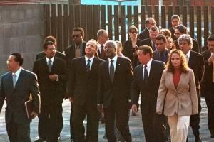 Kofi Annan conoció a los últimos tres presidentes de México. En la foto, con Vicente Fox cuando aún era secretario general de la ONU