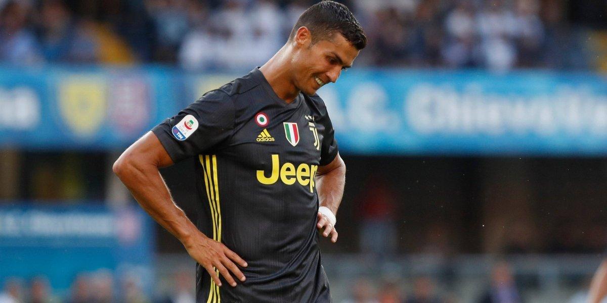 Sin goles, Cristiano Ronaldo debutó con la Juventus