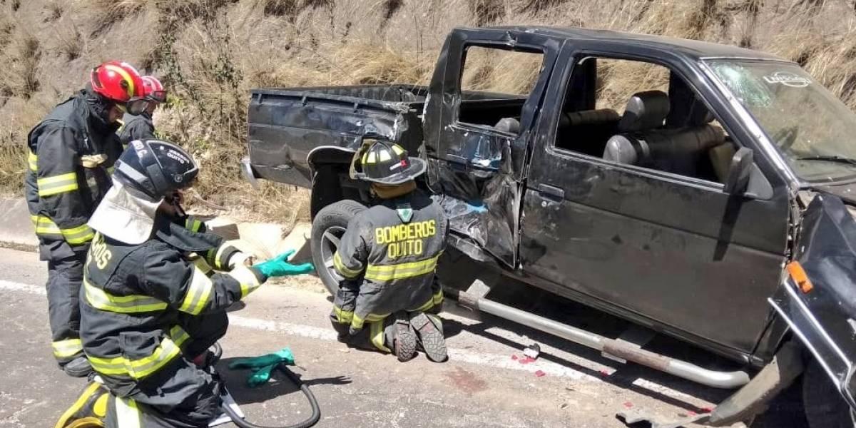 Siete heridos deja un accidente de tránsito en la avenida Simón Bolívar