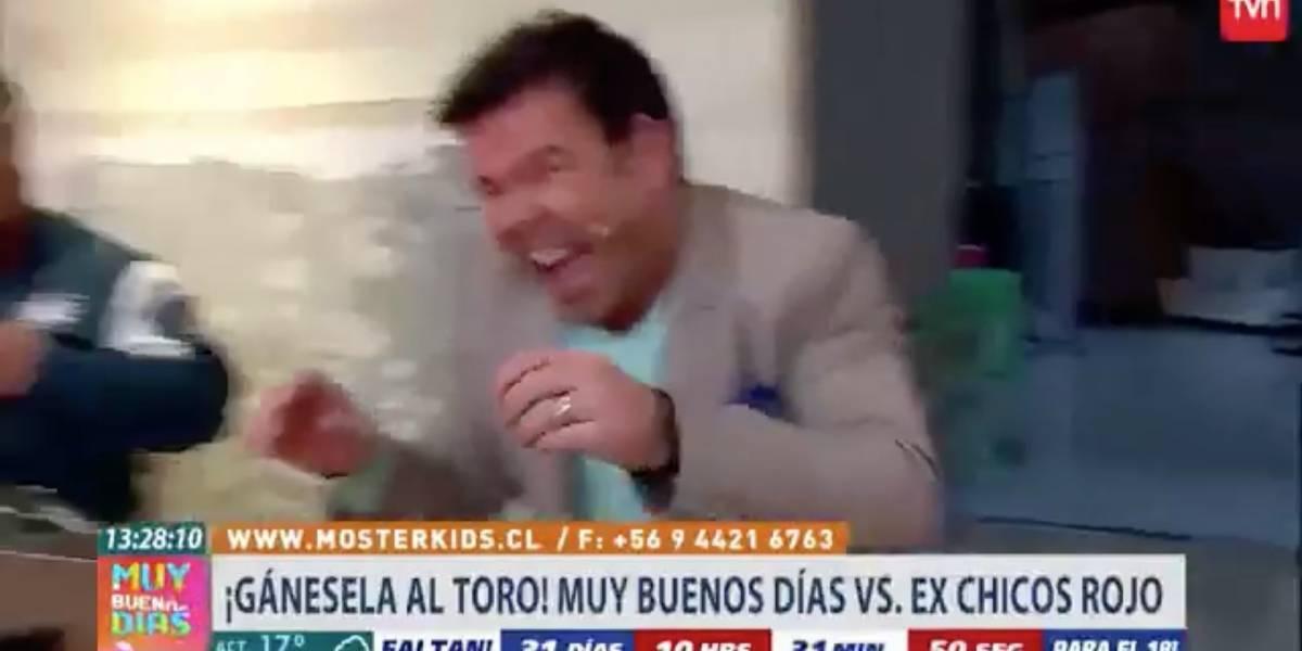 """La aparatosa caída de Chiqui Aguayo en """"Gánesela al toro"""" que provocó el ataque de risa de Ignacio Gutiérrez"""