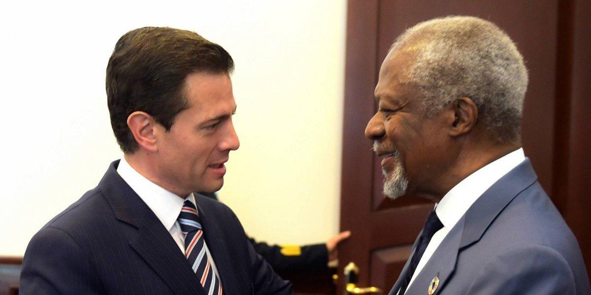 Aportaciones a la paz y derechos humanos, legado de Kofi Annan: Peña Nieto