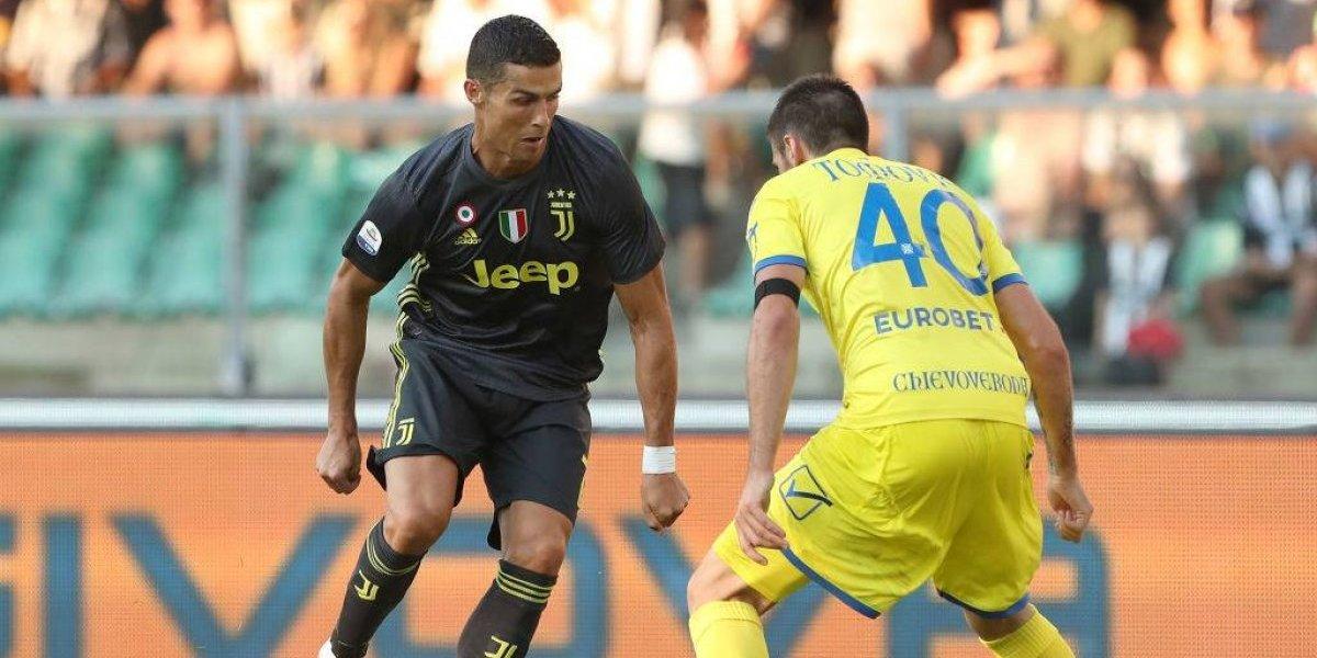 Cristiano Ronaldo festejó agónicamente en su debut con Juventus en el Calcio italiano