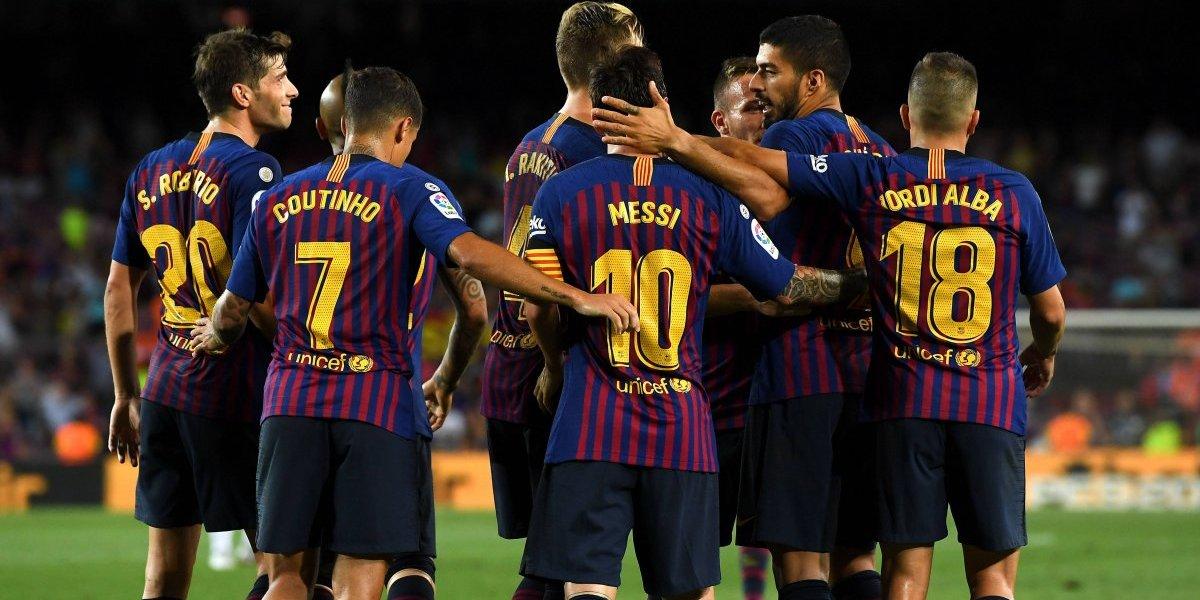 Con doblete de Messi, el Barça golea al Alavés