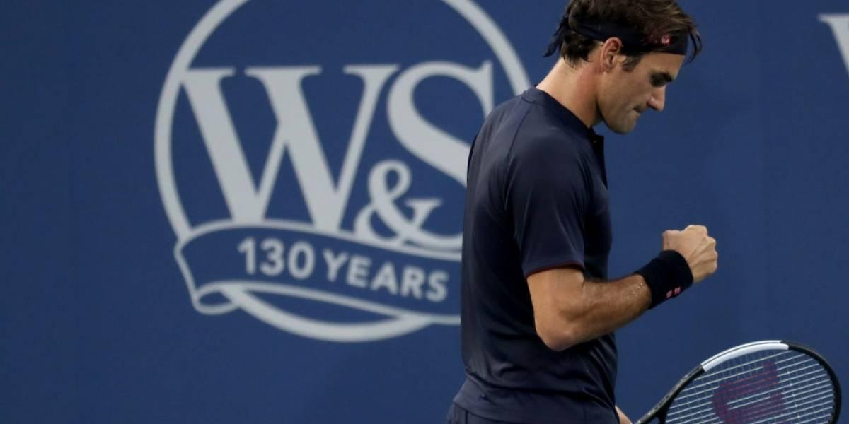 Roger Federer alcanza su octava final en Cincinnati tras retiro por lesión de David Goffin