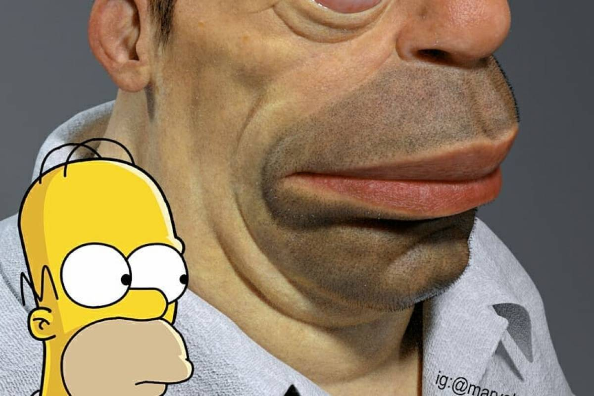 Fotos: Crean modelo realista de Homero Simpson y el resultado es rarísimo