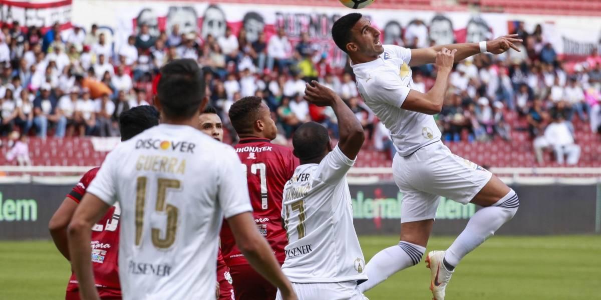 Liga de Quito y Técnico Universitario igualan 1-1 en el estadio Rodrigo Paz Delgado
