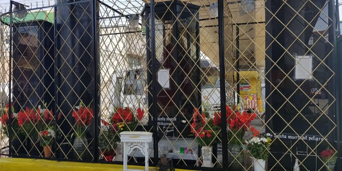 Ecatepec acoge a tres santas muertes de Michoacán, Veracruz y Oaxaca