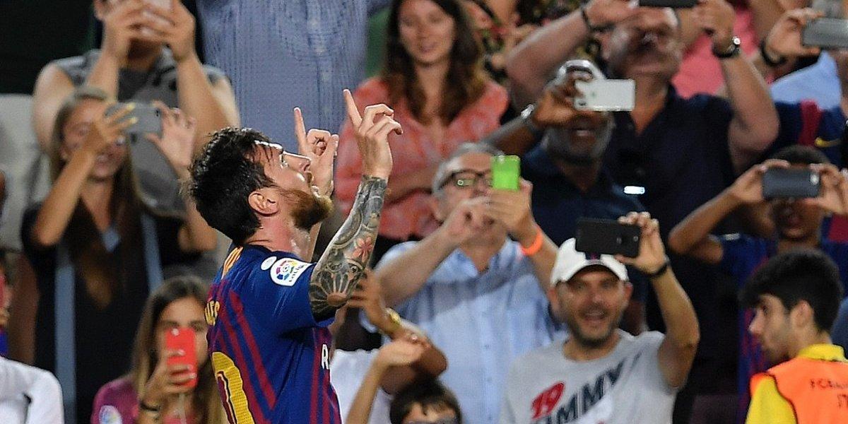 Messi anota el gol número 6 mil para el Barcelona en la Liga española