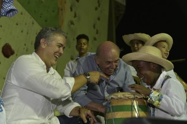 Duque en el Petronio Álvarez