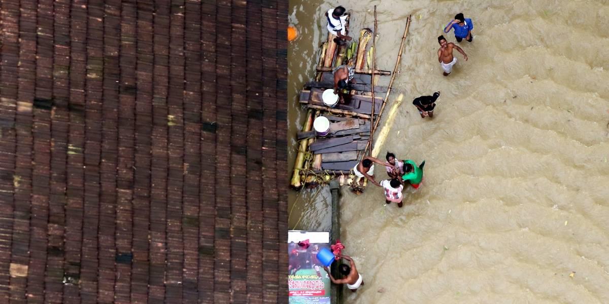 FOTOS: Pior inundação do século na Índia mata mais de 350 pessoas e força 800 mil a deixar casas