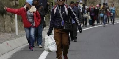 Venezolanos sin pasaporte ingresaron a Ecuador en su camino hacia Perú
