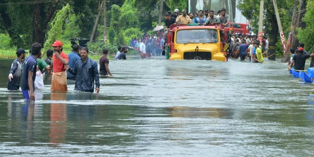 Las impactantes imágenes de las inundaciones en el sur de India