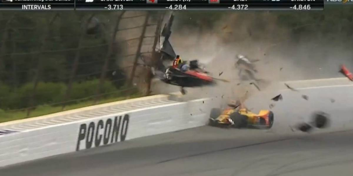 Terrible accidente en el Indy Car detiene la competencia