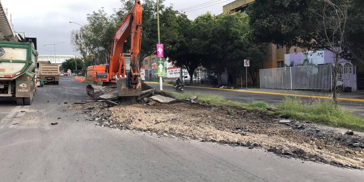 Inician los trabajos de repavimentación en avenida Juan Pablo II