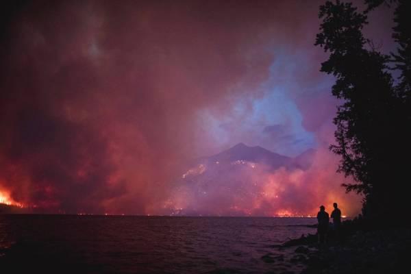 Incendio forestal en Montana