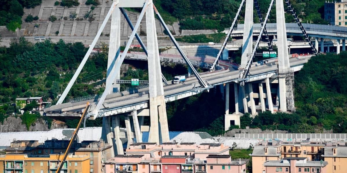 Diseñador del puente colapsado de Génova advirtió sobre riesgos