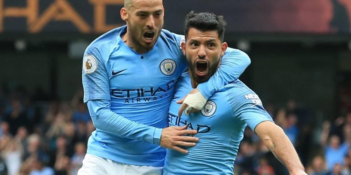 """El Manchester City avasalla al Huddersfield con un hat-trick del""""Kun"""" Agüero"""