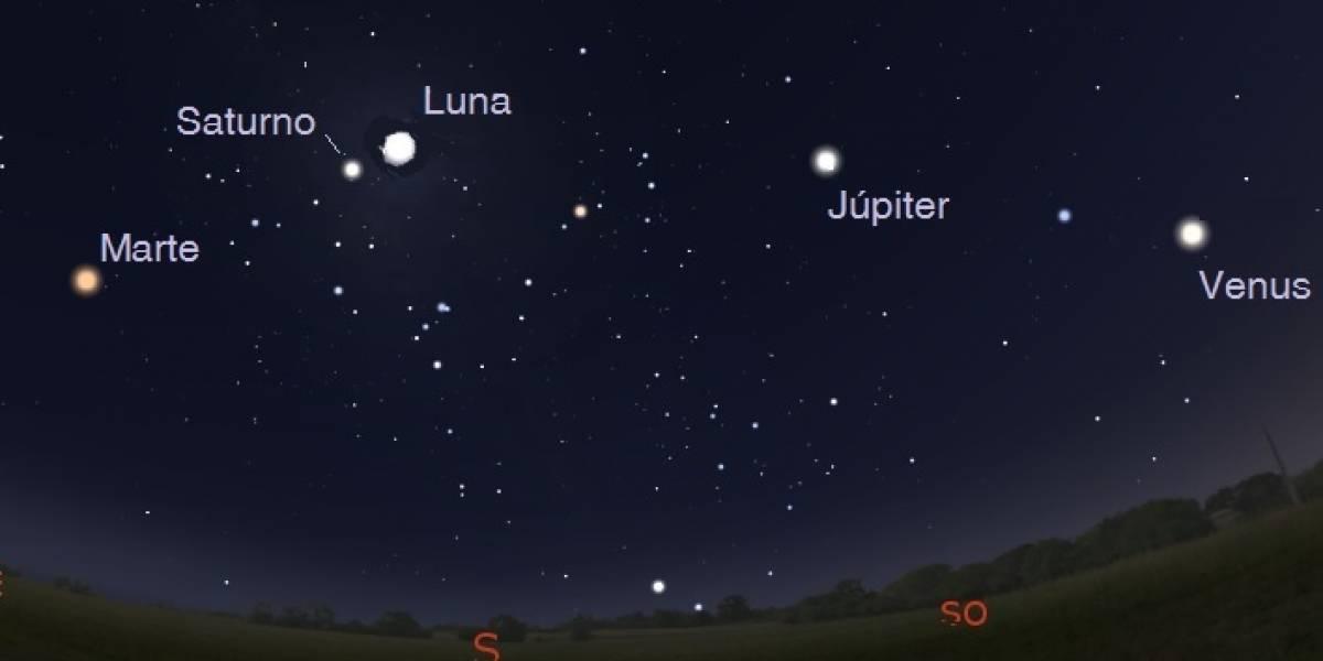 Desfile de planetas durante las noches esta semana