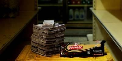 Un kilo de pasta = 0,38 dólares